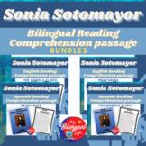 Sonia Sotomayor Bilingual Reading Comprehension Activity Bundle