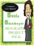 Sonia Sotomayor Biography Project Pack