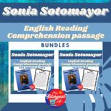 Sonia Sotomayor English Reading Comprehension Activity Bundle