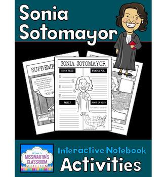 Sonia Sotomayor Interactive Notebook Activities