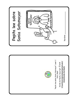 Sonia Sotomayor Mini book & Theme Pack in SPANISH