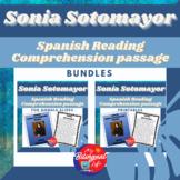 Sonia Sotomayor Spanish Reading Comprehension Activity Bundle