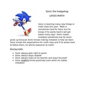 Sonic Social Story-Math