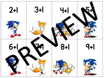 Sonic the Hedgehog Math Fact Game Single Digit Addition