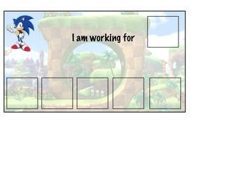 Sonic themed Token Board / Token Chart / Behavior Management