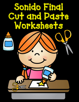 Sonido Final Cut and Paste Worksheets:  Cortar y Pegar Actividades