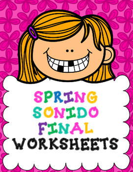 Sonido Final:  Spring Themed Sonido Final worksheets
