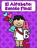 Sonido Final:  Valentine's Day Cut and Paste Activities Spanish Alphabet