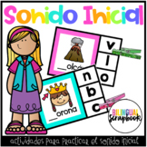 Sonido Inicial (Beginning Sound Clip it Center)