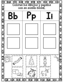 Sonido Inicial Cortar y Pegar;  Actividades para Kindergarten #2