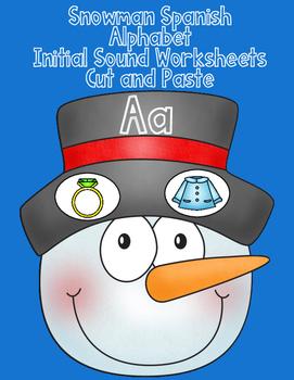 Sonido Inicial: Mono de nieve actividades para kindergarten