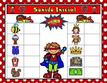 Sonido Inicial   Beginning Sounds Superhero Center