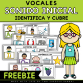 FREE  Sonido Inicial - Vocales (Spanish Beginning Sounds- vowels)