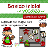 Sonido Inicial : vocales (Beginning sounds). Christmas