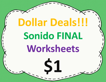 Sonido final Worksheets:  Dollar Deal