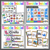 Sonido inicial  BUNDLE (Beginning Sounds Centers in Spanish )
