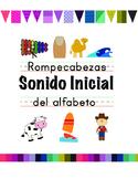 Sonido inicial (initial or beginning sound alphabet puzzle in Spanish)