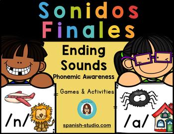 Sonidos Finales. Ending Sounds. (Phonemic Awareness Activities)
