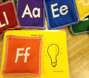 Sonidos Inicial - Using Alphabet Bean Bags