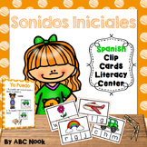 Sonidos Iniciales (Spanish Clip Cards Literacy Center)