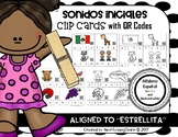 Spanish Alphabet: Sonidos Iniciales Clip Cards with QR Codes