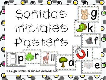 Sonidos Iniciales Posters (Initial Sounds Posters in Spanish)