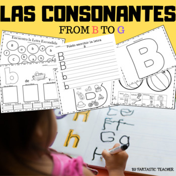 Sonidos iniciales - Beginning sounds in Spanish-( consonantes de  B a G)