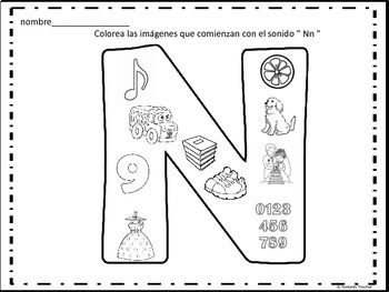Beginning sounds in Spanish-( consonantes de N a S)