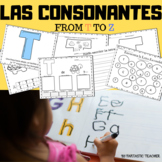 Sonidos iniciales - Beginning sounds in Spanish-( consonantes de T a Z)