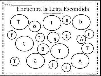 Sonidos iniciales - Beginning sounds in Spanish-( consonantes de T a Z)