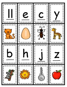 Sonidos iniciales Dual Language Initial Sounds Dominó Literacy center game