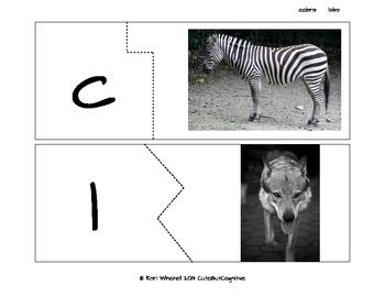 Sonidos iniciales con nombres de animales