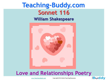 Sonnet 116 William Shakespeare teaching resources