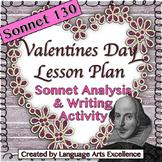 Sonnet 130 Valentine's Day Lesson Plan