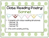 Close Reading Poetry: Sonnets