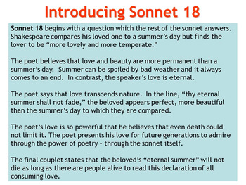 "shall i compare thee to a summers day essay This essay is based on two sonnets, ""shall i compare thee to a summer's day"" and ""sonnet 130"", both of which are written by william shakespeare although."