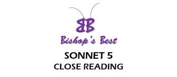 Sonnet 5 Close Reading Worksheet PARCC and Better Balanced Rigor