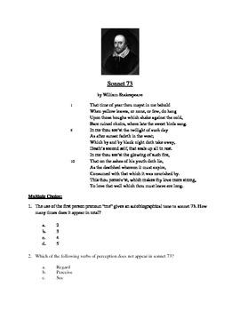 Sonnet 73 - Literary Text Test Prep