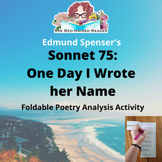Sonnet 75: One Day I Wrote her Name by Edmund Spenser fold