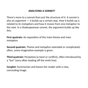 Sonnet: 9 by Alan Seeger, Review of Short Answer & Multiple Choice Test, AP