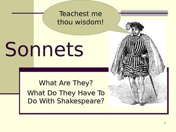 Shakespearean and Italian Sonnet Introduction PowerPoint