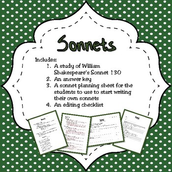 Sonnet Lesson Bundle (reading and writing)