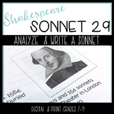 Shakespeare's Sonnet 29 -- Analysis and Creative Writing with Poetry
