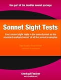 Sonnet Sight Poem Tests