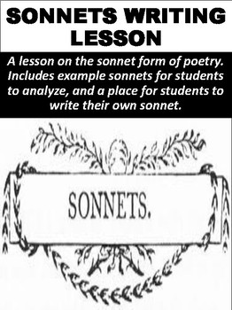 Sonnets Writing Lesson
