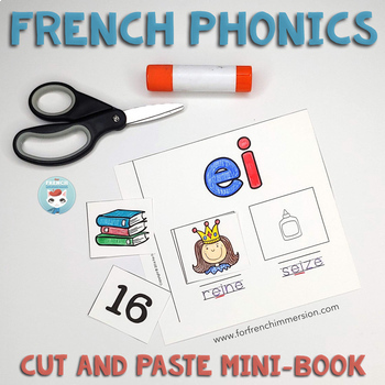 French phonics – Les sons français: Cut and Paste Mini-Book | French Sounds
