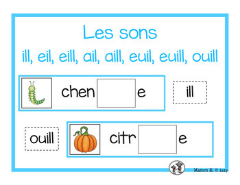 Sons complexes (ill, eil, eill, euil, euill, ouill)