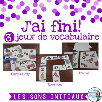 Sons initiaux: 3 Alphabet Themed Games in French