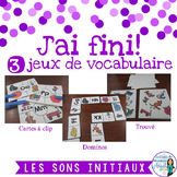 Son initial: 3 French Beginning Sound Games
