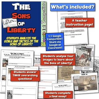 Sons of Liberty: Students Understand Role in Revolution with Image Analysis!